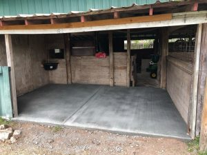 Concrete Slab for Barn
